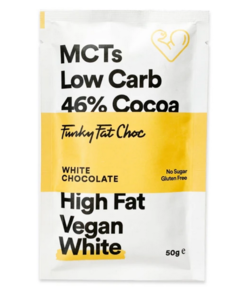 Funky Fat Choc - witte chocolade 50gr