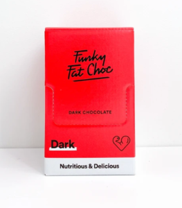 Funky Fat Foods - Donkere chocolade box 10x50g